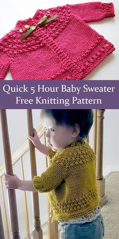 Free Knitting Pattern for Quickie Baby Sweater - Baby cardigan knit top d. Crochet , Free Knitting Pattern for Quickie Baby Sweater - Baby cardigan knit top d. Free Knitting Pattern for Quickie Baby Sweater - Baby cardi. Baby Cardigan Knitting Pattern Free, Baby Sweater Patterns, Knitted Baby Cardigan, Baby Pullover, Knit Patterns, Sweaters Knitted, Cardigan Sweaters, Cardigan Pattern, Knitting For Kids