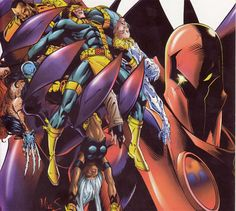 Onslaught vs X-men #Marvel