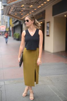 Olive Green and Black - Cupcakes & Cashmere