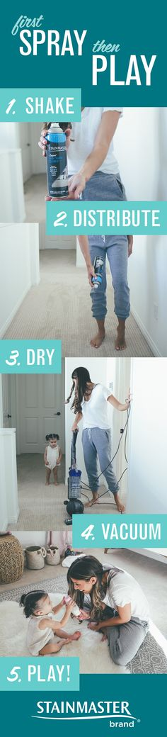 Protect your home's more popular spots with STAINMASTER™ Carpet High Traffic Cleaner. It loosens and lifts dirt, so you can vacuum it away, and provides a protective shield against grime that gets tracked in. So, spray. Play. Yay!
