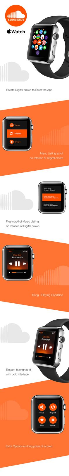 Soundcloud - Apple watch on Behance