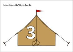The numbers from 51 to 100 presented on canvas tents. An extension to our existing Numbers on tents resource. Phonics Song, Alphabet Phonics, Kids Learning Alphabet, Sparkle Box, File Folder Games, Canvas Tent, Free Teaching Resources, Forest Theme, Math Numbers