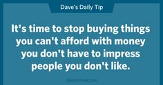 you don't have to impress
