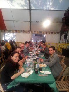 Bloggellon en la Carpa del Ternasco con quesos Sierra Albarracín. #Pilar13 #carpata #b32en