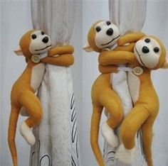 Cheeky #monkey #curtain tie #backs playing baby nursery (2),  View more on the LINK: http://www.zeppy.io/product/gb/2/110933394183/