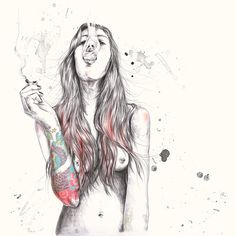 hipster girl drawing - Google Search