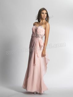 Beaded Sweetheart Pink Prom Gowns