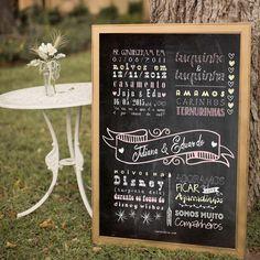 Quadro Chalkboard Casamento  Quadro Personalizado Casamento