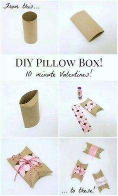 Einfach kleine DIY  Verpackung aus #Klorollen, #Geschenk, #Muttertag