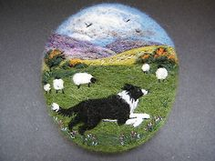 Handmade Needle Felted Brooch           'Go Gwen! '         by T. Dunn