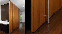 BARTELS DOORS Interior Sliding Hardware - Wood Door [TIGER] as flush ceiling system Small Room Divider, Office Room Dividers, Hanging Room Dividers, Decorative Room Dividers, Separating Rooms, Buy Office, Wood Doors, Sliding Doors, Armoire