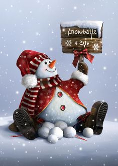 Xmas-snowman Digital Art by Tammara Markegard