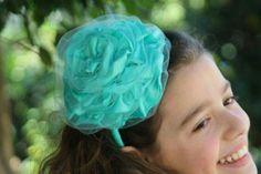 Jm Handmade tulle flower  headband