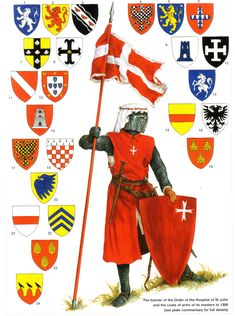 hospitaller knight and banners