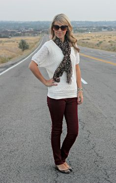 burgundy + leopard   Perfection Possibilities