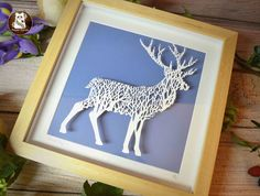 'Forest Stag' Large Original Papercut
