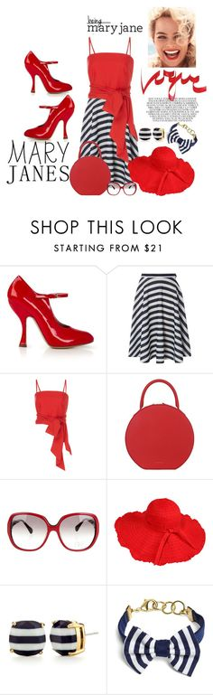 """""""Mary Janes"""" by penelopepoppins ❤ liked on Polyvore featuring Vivienne Westwood, Mela Loves London, MDS Stripes, Mansur Gavriel, Diane Von Furstenberg, Kate Spade, Brooks Brothers and maryjanes"""