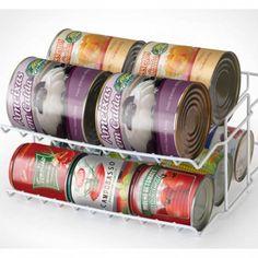 Suporte para latas - 2 andares - Organize e aumente a área útil de seus armários! - Cozinha