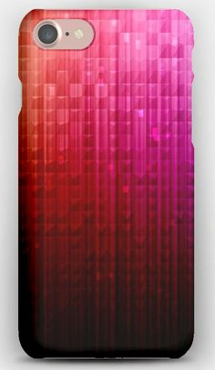 iPhone 7 Case Glare, Cells, Colored, Glass