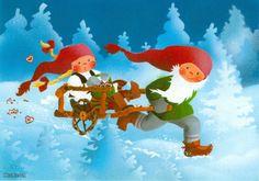 Kaarina Toivanen Gnomes, Lucky Charm, Goblin, Elves, Troll, Paper Dolls, Finland, Woodland, Scandinavian