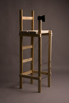 the carpenter's chair _ M model _ by Erika Gábor Furniture Plans, Carpenter, Erika, Create Your Own, My Design, Objects, Woodworking, Chair, Model