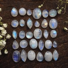 Collection of Quartz & crystals Rocks And Gems, Rocks And Minerals, Wicca, Magick, Witchcraft, Crystals And Gemstones, Stones And Crystals, Moonstone Jewelry, Moonstone Pendant