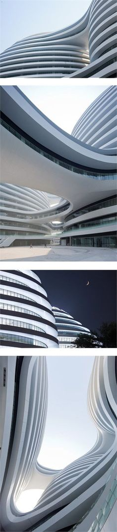 The Galaxy SOHO by Zaha Hadid Architects #architecture #building #futuristicarchitecture