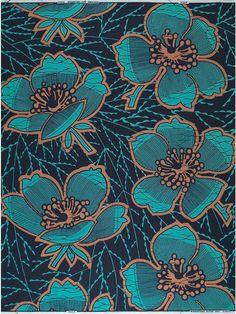 Product Information - Vlisco, distinctive African fabrics Flower Pattern Design, Surface Pattern Design, Pattern Art, Batik Pattern, Pattern Fabric, Pattern Ideas, Fabric Design, Motifs Textiles, Textile Patterns