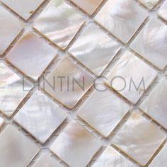 Natural White Mother Of Pearl Tiles Square Chips - Freshwater Shell Tiles - Shell Tiles Mosaic Tiles, Fresh Water, Shells, Pearls, Natural, Accent Walls, Backsplash, Bathrooms, Kitchen