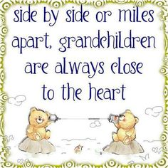I'm fortunate my grands are only 100 miles away, but know how my kids feel being so far away from my parents - they love them so much!