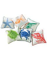 Sea creature Pillows   LinenSource