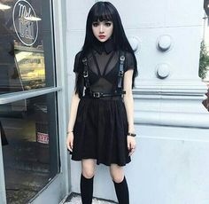 dress harness black dark witch