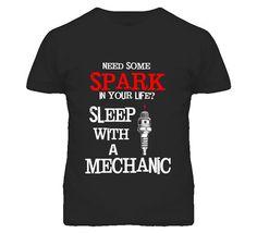 Sleep With A Mechanic T Shirt Funny Mechanic by OriginalJamesTees