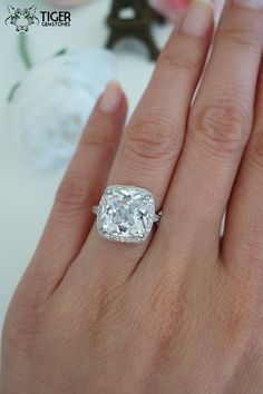 SALE! Usually $299.99  Modern yet romantic, honor the one you love with this stunning white man made diamond bridal set.  This is the perfect,