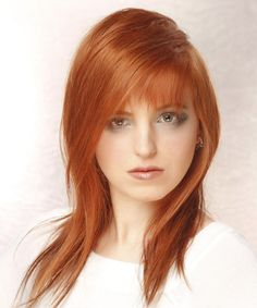 Long Hairstyle - Straight Casual - Light Red | TheHairStyler.com