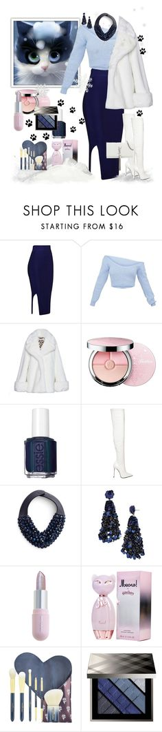 """""""Meow"""" by jaja8x8 ❤ liked on Polyvore featuring VIVETTA, Guerlain, Essie, Le Silla, Fairchild Baldwin, BaubleBar, Winky Lux, Burberry and Yves Saint Laurent"""