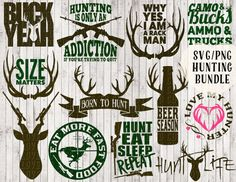 hunting svg bundle deer svg buck svg antler svg by goodsbygirl