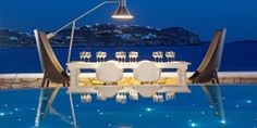 The on-site Authentic Restaurant serves posh Greek dishes against an enchanting backdrop. #Jetsetter