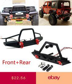 Ocamo RC Crawler Metal Front /& Rear Bumper Lights Axial SCX10 Jeep AX90046 RC Car Rear Bumper