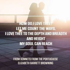 Taken from Sonnets from the Portuguese by Elizabeth Barrett Browning. For more great poems visit RedOnline.co.uk