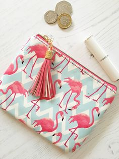 Beautifully designed interior accessories, gifts and homewares - Pink Flamingo Coin Purse Flamingo Craft, Flamingo Gifts, Flamingo Decor, Flamingo Pattern, Pink Flamingos, Diy Coin Purse Tutorial, Pink Stuff, Pink Parties, Coin Purses