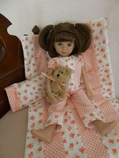 Coral-Pajamas-for-Effner-13-Little-Darling-Doll-made-by-Apple