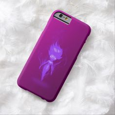 Fairy Realm Purple Pixie Airbrush Art iPhone 6, Barely There Case by BOLO Designs.