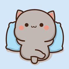 Cute Cartoon Pictures, Cute Love Pictures, Cute Images, Cute Anime Cat, Cute Cat Gif, Chibi Cat, Anime Chibi, Cute Puppy Wallpaper, Cat Doodle