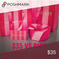 PINK NATION MYSTERY BOX Surprise yourself or somebody else with this mystery purchase.  The mystery purchase will include all of pink nation victorias secret products. All products are brand new with the tags.  Your not just purchasing one or two items..your purchases will be a value of more than the $35. I have a bigger mystery box with a value of over its price as well. Check out my boutique PINK Victoria's Secret Accessories