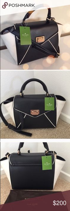 Kate Spade Small Laurel Wesley Bag Kate Spade Wesley Place, color block 2Way Small Laurel 2color block and soft leather pebble processing of is the point. You can use a cross-body in with strap, it is the perfect 2Way bag that can be used as a small handbag to remove the strap.  Color : Black and Porcelein Material : Soft Pebble Leather 14K Light gold plated hardware Elbow hold with adjustable shoulder strap Opening Fastener Inside 1 zipper pocket and 2 Open Pockets Measurement : W 22cm…