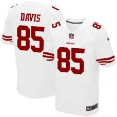 Nike Elite Mens San Francisco 49ers  85 Vernon Davis White Color NFL  Jersey 129.99 49ers 68bb87550