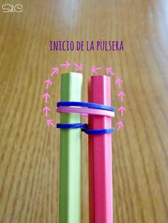 Pulsera de gomas elasticas. Como hacer tu primera pulsera con Rainbow Loom.