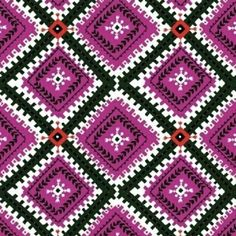 Diamond Medallion in Pink by Bobbie Lou's Fabric Factory