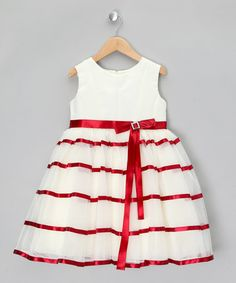 Take a look at this Ivory & Wine Tiered Party Dress - Infant, Toddler & Girls by Couche Tot on #zulily today!